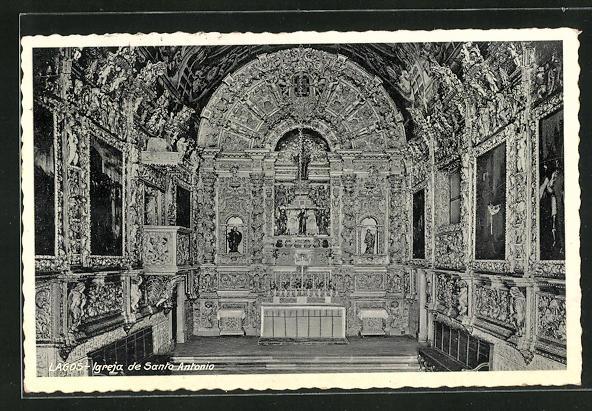 AK Lagos, Igreja de Santo Antonio, Innenansicht