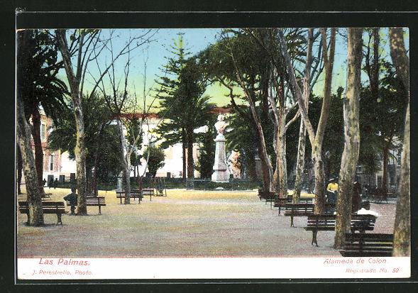 AK Las Palmas, Alameda de Colon