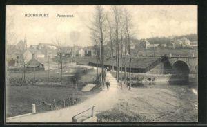 AK Rochefort, Strassenpartie am Ortseingang