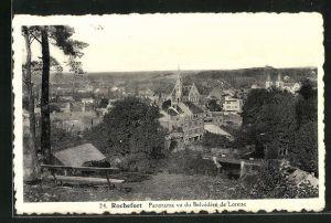 AK Rochefort, Panorama vu du Belvédère de Lorette