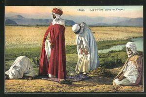 AK La Prière dans le Desert, Araber beim Beten