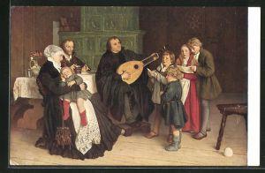 AK Luther und die Seinen, Martin Luther spielt auf der Laute