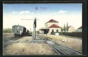 AK Beverloo, La Gare, Bahnhof