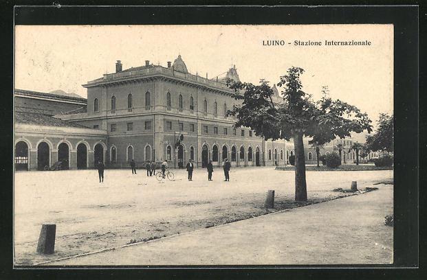 AK Luino, Stazione Internazionale, Bahnhof