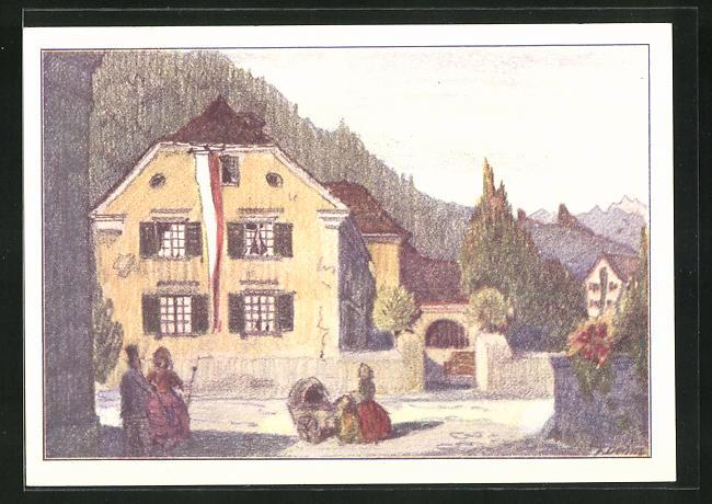 AK Alt Ragaz, Kantonales Sängerfest 1930, Leute vor dem Doktorhaus