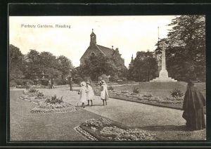 AK Reading, Forbury Gardens, Partie im Park
