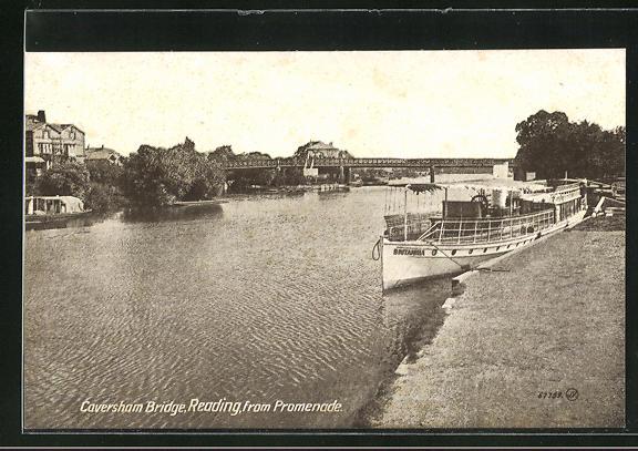 AK Reading, Caversham Bridge from Promenade