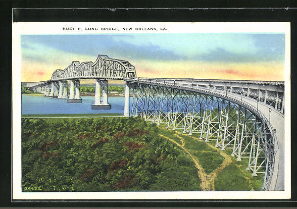 AK New Orleans, LA, Huey P. Long Bridge