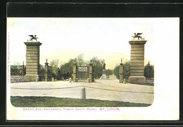 AK St. Louis, MO, Grand Ave. entrance, Tower Grove Park
