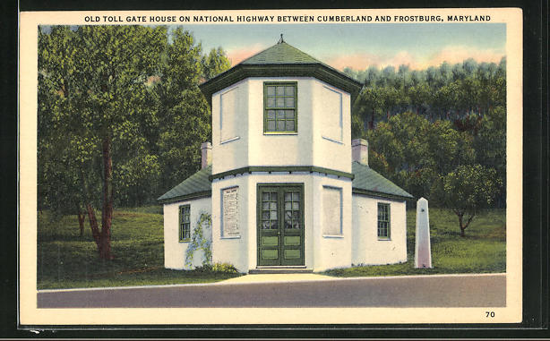 AK Frostburg, MD, Old toll gate house on national highway between Cumberland and Frostburg