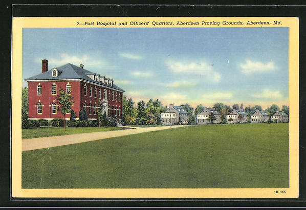 AK Aberdeen, MD, Post Hospital and Officers Quarters, Aberdeen Proving Grounds