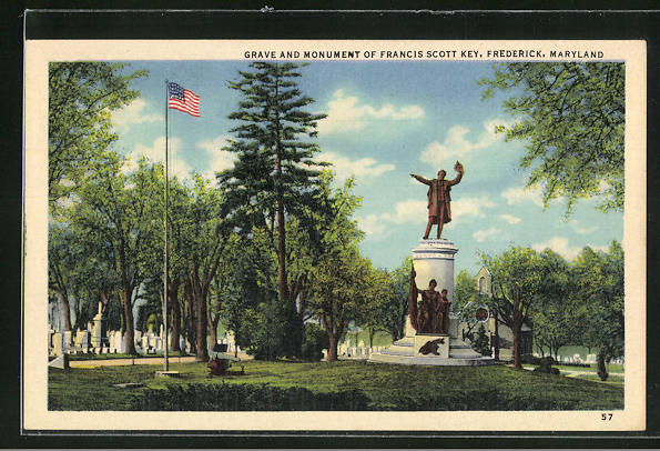 AK Frederick, MD, Grave and Monument of Francis Scott Key