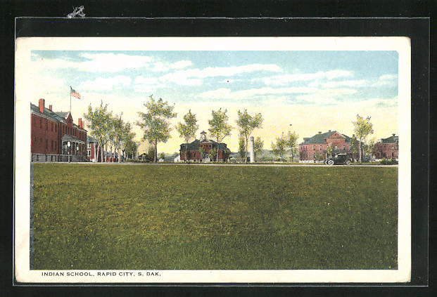 AK Rapid City, SD, View on Indian School