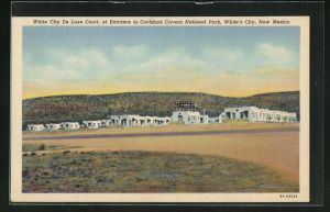 AK White`s City, NM, White City de Luxe Court, at Entrance to Carlsbad Cavern National Park