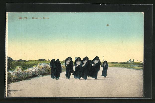 AK Malta, Country Girls Walking on Street