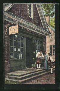 AK Williamsburg, VA, Printing Office