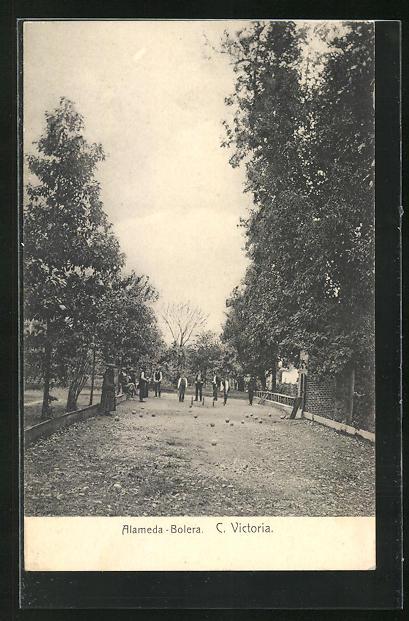 AK Ciudad Victoria, Alameda-Bolera, Männer beim Boule