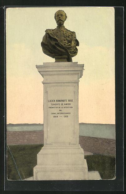 AK Panama City, Bust of Lucien Bonaparte