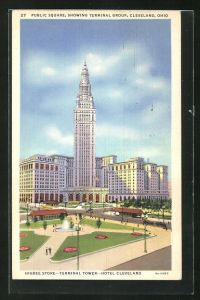 AK Cleveland, OH, Public Square showing Terminal Group and Higbee Store