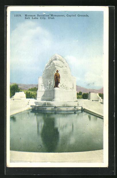 AK Salt Lake City, UT, Mormon Battalion Monument, Capitol Grounds