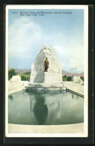 AK Salt Lake City, UT, Mormon Battalion Monument, Capitol Grounds