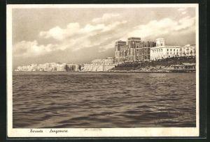 AK Taranto, Lungomare, Ortsansicht vom Meer her