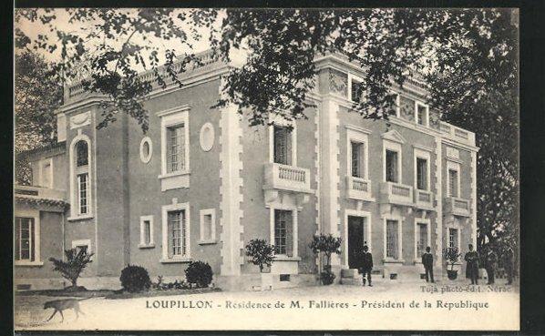AK Loupillon, Residence de M. Fallieres, President de la Republique
