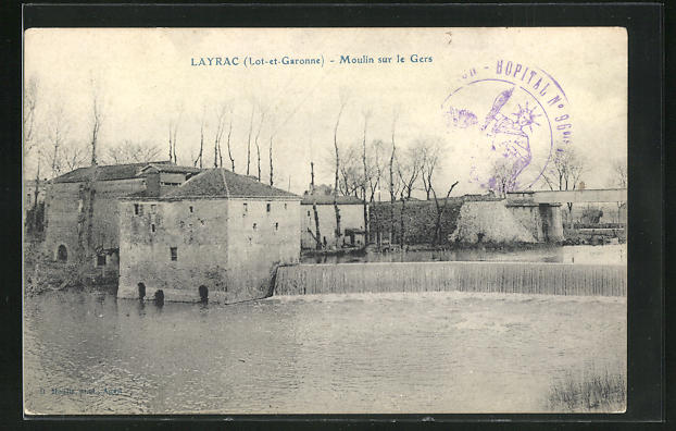 AK Layrac, Moulin sur le Gers