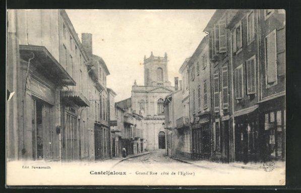 AK Casteljaloux, Grand`Rue côté de l` Eglise