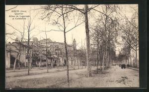 AK Auch, Quartier Allees de Lagarrasic et Cathedrale