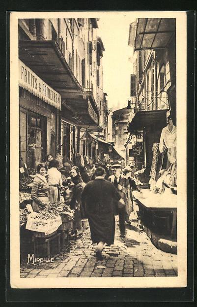 AK Marseille, Rue Bonneterie, Marktstrasse