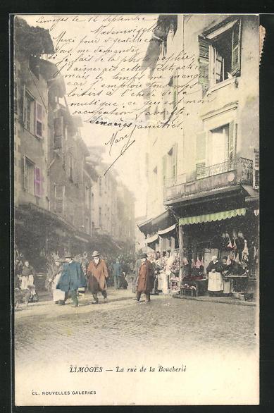 AK Limoges, La Rue de la Boucherie