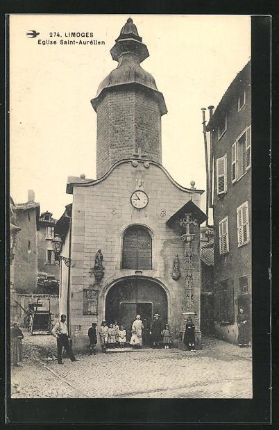 AK Limoges, Eglise Saint-Aurélien