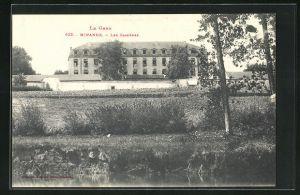 AK Mirande, Les Casernes, Blick zur Kaserne