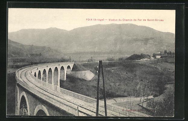 AK Foix, Viaduc du Chemin de Fer de Saint-Girons