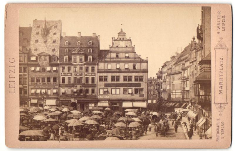Fotografie H. Walter, Leipzig, Ansicht Leipzig, Marktplatz