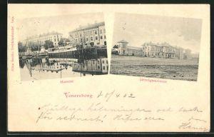 AK Venersborg, Hamnen & Järnvägsstationen, Bahnhof