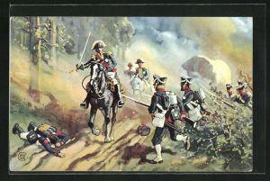 AK Gefangennahme des Marschall Vandamme bei Kulm, Vlkerschlacht 1813