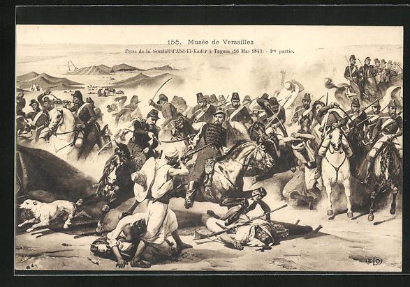 Künstler-AK Prise de la Smalah d`Abd-El-Kadir a Taguin 1843