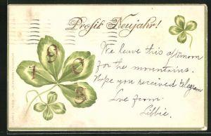 AK Goldene Jahreszahl 1903 im Kleeblatt