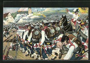 AK Gefecht bei Liebertwolkwitz