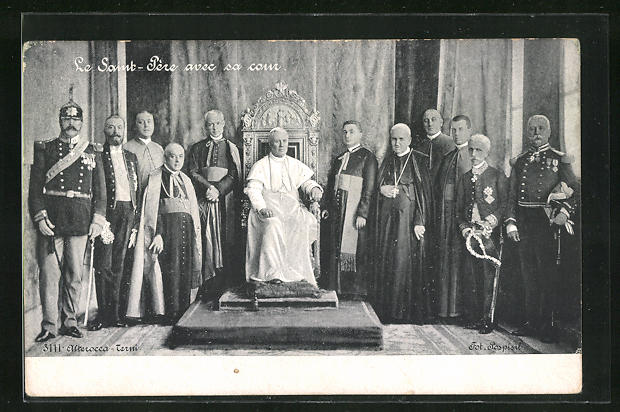 AK Le Saint - Père avec sa cour, Papst Pius X.