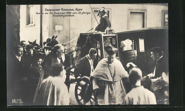 AK Erzbischof Kardinal Kopp feiert sein Dienstjubiläum, 1906