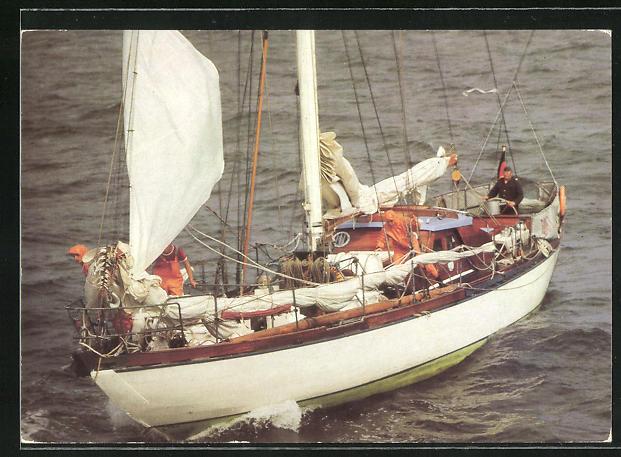 AK Die Segeljacht der GST Ernst Schneller