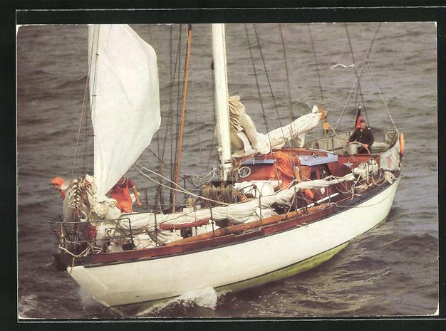 AK Die Segeljacht der GST Ernst Schneller bei einem Manöver