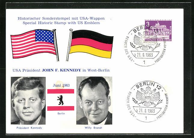 AK Präsident der USA John F. Kennedy, Besuch in West-Berlin 1963