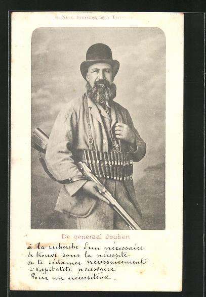 AK Burenkrieg, Potrait des Generals Joubert in Waffen