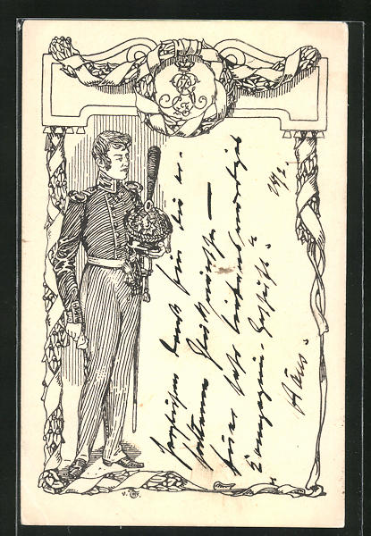 AK Befreiungskriege, Bildnis eines jungen Offiziers