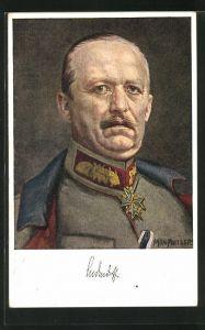 Künstler-AK Max Antlers: Generalleutnant von Ludendorff