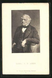 AK Daniel F. E. Auber, Portrait des Musikers